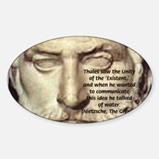 Greek Philosophy: Thales Oval Decal