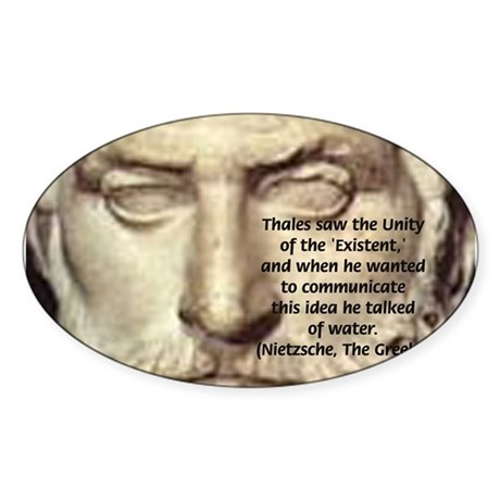 Greek Philosophy: Thales Oval Sticker