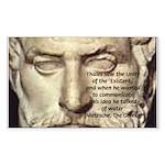 Greek Philosophy: Thales Rectangle Sticker