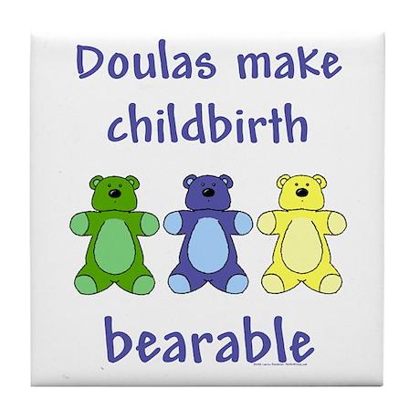 Doulas / Bearable Tile Coaster