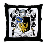 Goodman Coat of Arms Throw Pillow