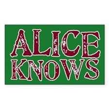 Alice Knows Rectangle Decal