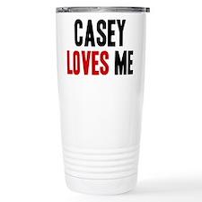 Casey loves me Ceramic Travel Mug