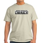Retroactive Abortion For Libe Ash Grey T-Shirt