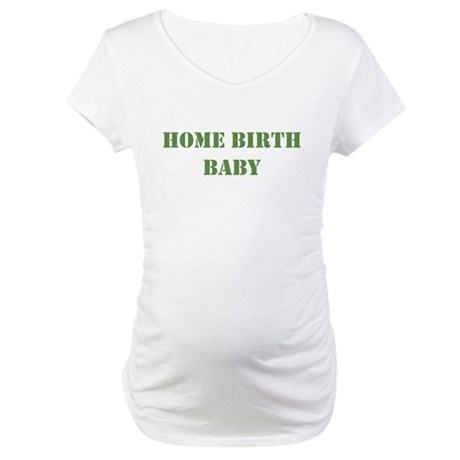 Home Birth Baby Khaki Maternity T-Shirt