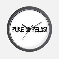 Puke On Pelosi Wall Clock