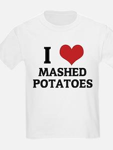 I Love Mashed Potatoes Kids T-Shirt