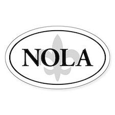Oval NOLA sticker