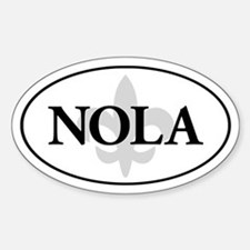 Oval NOLA sticker