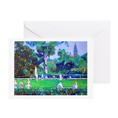 Lawn Bowling in the Park Greeting Cards (Package o