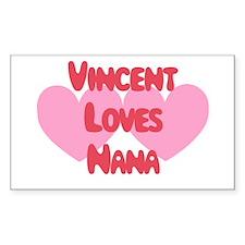 Vincent Loves Nana Rectangle Decal