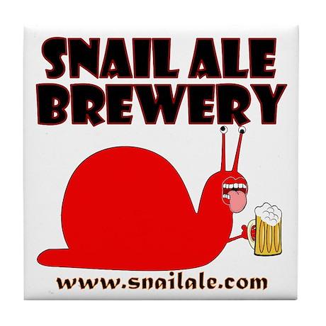 Red Snail Tile Coaster