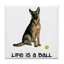 German Shepherd Life Tile Coaster