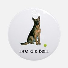 German Shepherd Life Ornament (Round)