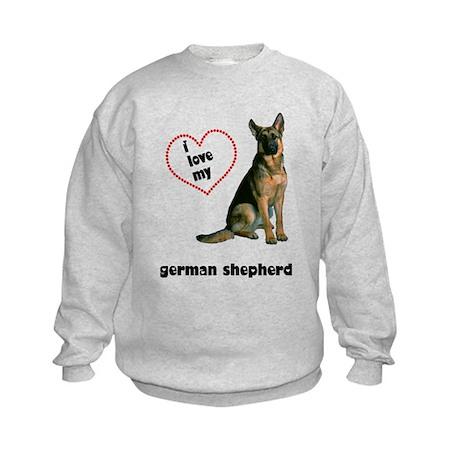 German Shepherd Lover Kids Sweatshirt