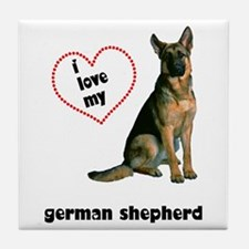German Shepherd Lover Tile Coaster