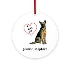 German Shepherd Lover Ornament (Round)