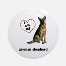 German Shepherd Lover Ornament (Round)