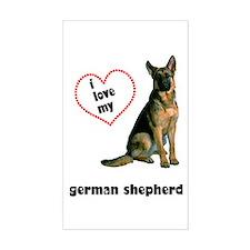 German Shepherd Lover Rectangle Decal