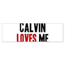 Calvin loves me Bumper Bumper Sticker