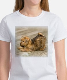 Playful Norfolk Terrier Pup Women's T-Shirt