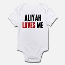 Aliyah loves me Infant Bodysuit