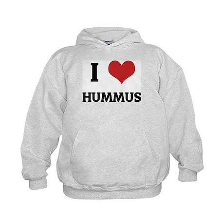 I Love Hummus Kids Hoodie