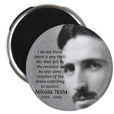 "Nikola Tesla 2.25"" Magnet (100 pack)"