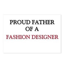 Proud Father Of A FASHION DESIGNER Postcards (Pack