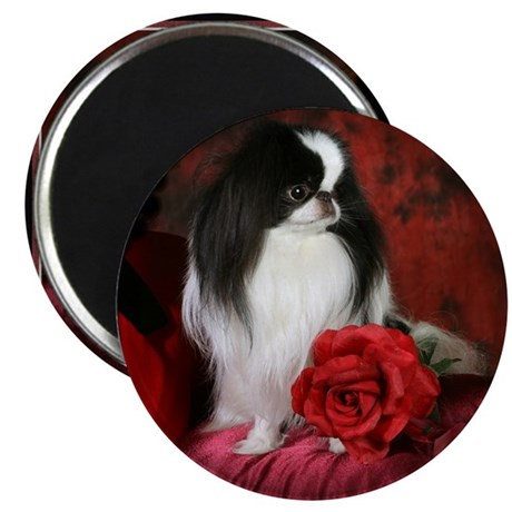 Japanese Chin & Rose Magnet