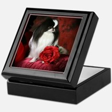 Japanese Chin & Rose Keepsake Box