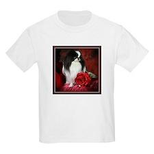 Japanese Chin & Rose Kids T-Shirt