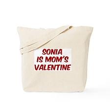Sonias is moms valentine Tote Bag
