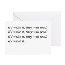 IF I WRITE IT... Greeting Cards (Pk of 10)