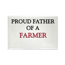 Proud Father Of A FARMER Rectangle Magnet