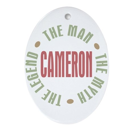 Cameron the Man Myth Legend Oval Ornament