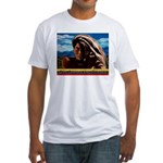 Give Thanks and Praises Rastafarian Fitted T-Shirt