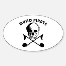 MUSIC PIRATE Oval Decal