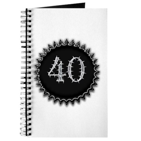 Black 40th Birthday Journal