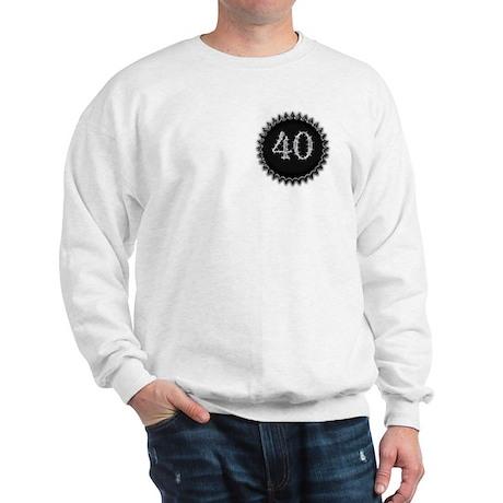 Black 40th Birthday Sweatshirt