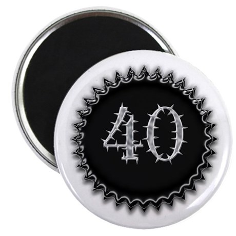 "Black 40th Birthday 2.25"" Magnet (100 pack)"