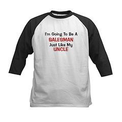 Salesman Uncle Profession Kids Baseball Jersey