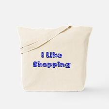 Tote Bag - I like shopping & Smiley Face