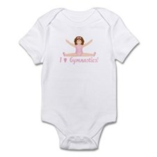 I Love Gymnastics (Brunette) Infant Bodysuit