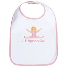 I Love Gymnastics Blonde Bib