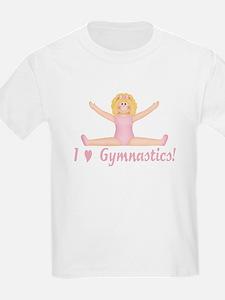 I Love Gymnastics Blonde T-Shirt