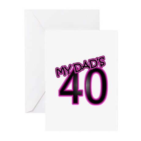 Dad's 40th Birthday Greeting Cards (Pk of 10)