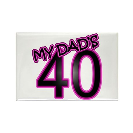 Dad's 40th Birthday Rectangle Magnet