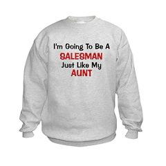 Salesman Aunt Profession Sweatshirt