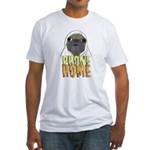 phone home pug dog look Fitted T-Shirt